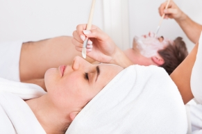 Couple Applying Facial Mask